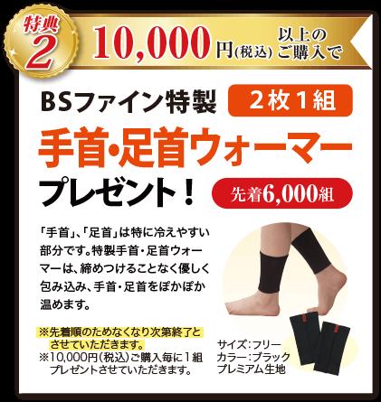 特典2 10,000円(税込)以上のご購入で