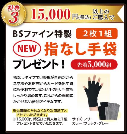 特典3 15,000円(税込)以上のご購入で